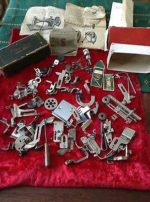 Vintage Singer And Other Sewing Machine Spares And Booklet
