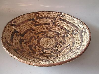 "So. West America Hand Woven 10"" Pima Basket"