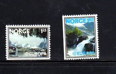Norway #693-694  1977  Europa   Mint  Vf Nh