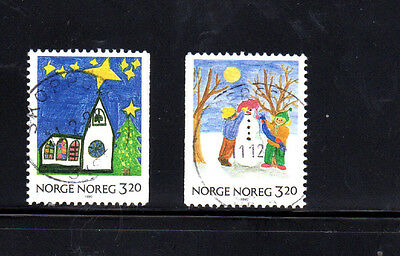 Norway #986-987  1990  Christmas   F-Vf  Used