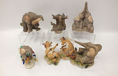 Job Lot Of 5 x Various TUSKERS Elephant Ornaments Unboxed - G22