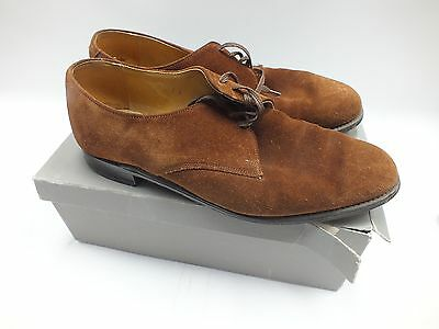 Men's Vintage A.H COUSINS Brown Genuine Suede Gibson Shoes UK Size 11 - P09