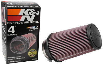 "RE-0870 K&N Universal Rubber Air Filter 4""FLG, 6""OD-B, 4-5/8""OD-T, 9""H (KN Unive"