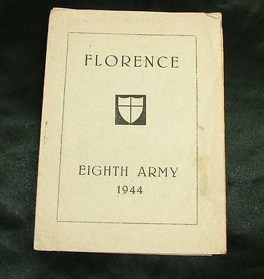1944 EIGHTH ARMY 8th FLORENCE BOOKLET ISSUED TO SERVICEMENT