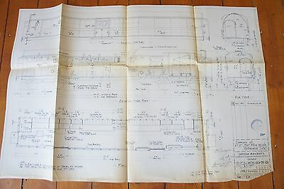 1958 Railway Technical Diagram of Post Office Vechicle Drawing