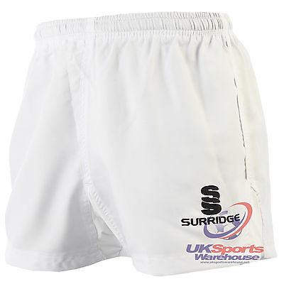 Surridge Advance Rugby Shorts Professional Standard rrp£30 White 2XL 42""