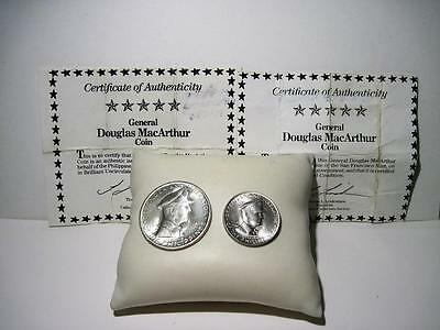 1947S Philippines General Douglas MacArthur 2 Silver Coin Set with COA's