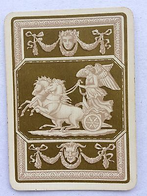 Vintage Swap / Playing Card - Wide - Angel & Chariot - Horses