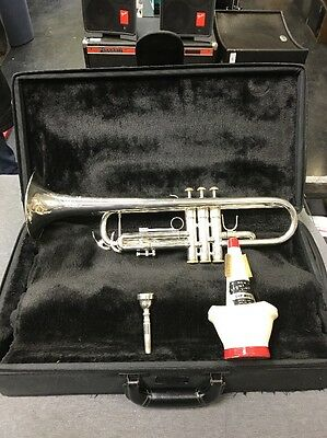 F. Schmidt A180S Silver Plated Trumpet Bb Trumpet W/ case (used) Free Ship