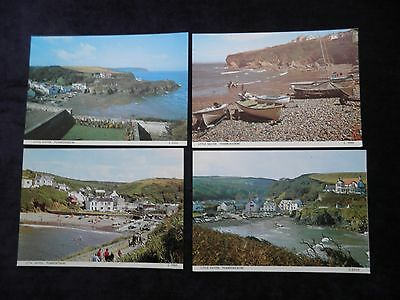 4 Vintage Welsh Postcards Of Little Haven, Pembrokeshire