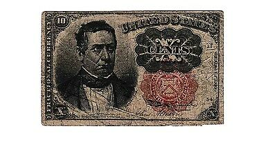 1874 Usa 10 Cents Fractional Curency Bank Note