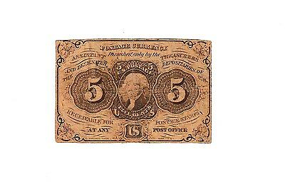 1862 - United States 5 Cent Fractional Postage Currency Note - Thomas Jefferson