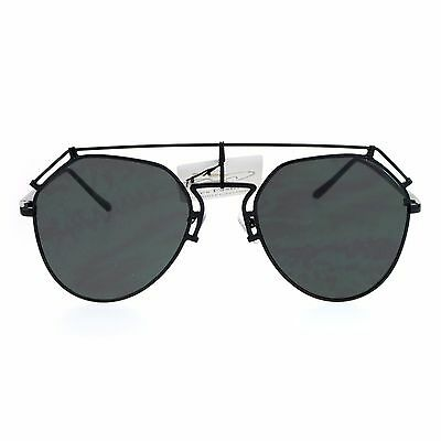 fdd20df33d9 WOMENS DESIGNER AVIATOR Sunglasses Flat Top Bar Metal Frame Aviators ...