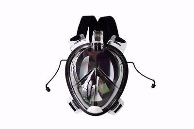 Snorkel diving mask full face free breathing design anti-fog and anti-leak Small