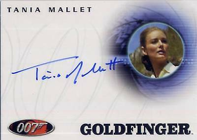 JAMES BOND COMPLETE Autograph  A57 TANIA MALLET as TILLY MASTERSON