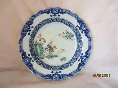 19Th Century Chinese Hand Painted Soup Bowl