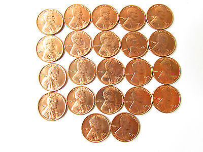 22, 1955 S LINCOLN WHEAT CENT COIN UNC BU LOT COLLECTION - 1955s