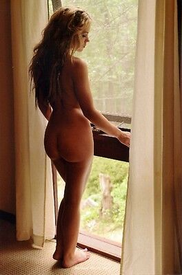 Erotic Female Nude Woman Postcard Sexy Bare Butt Long Hair Blonde Girl by Window