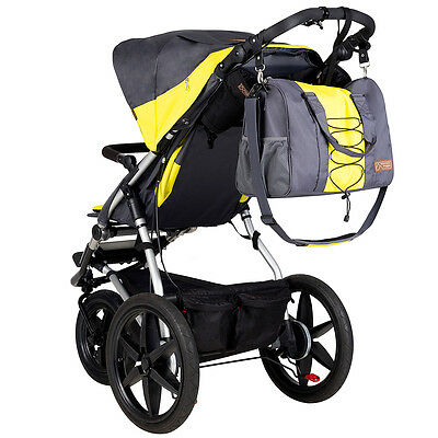 Mountain Buggy Terrain Stroller 3.0 V3 Solus With Duffel Diaper Bag New!