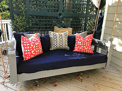 NWT Sunbrella Outdoor Twin Mattress Cover Daybed Swing Bed Water Resistant Black