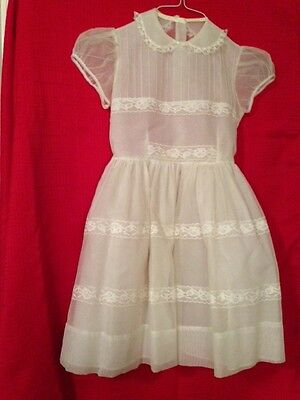 1950/60's Vintage Young Girls Pale Yellow Dress - Sweet!
