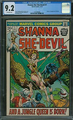 Shanna the She-Devil 1 CGC 9.2 - OW Pages - NO RESERVE AUCTION