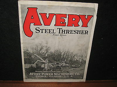 Vintage 1920's Avery Steel Thresher Tractor Sales Brochure Farm Adv