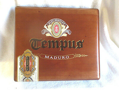 Alec Bradley Tempus Maduro Magistari Wood Cigar Box - Nice!