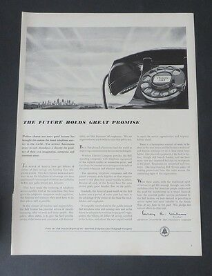 Original Print Ad 1949 BELL TELEPHONE SYSTEMS Rotary Phone