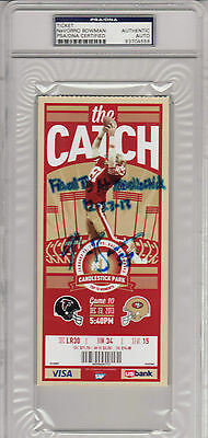 49Ers Navorro Bowman Signed Final Game Ticket Psa/dna Slabbed Encapsulated
