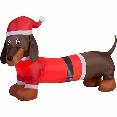 New ! Weiner Dog Inflateable Holiday Air Blown Outdoor Christmas Decor
