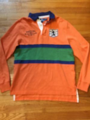 New Polo Ralph Lauren Boys XL 18/20 Boy Rugby Orange Captains Cup Back To School
