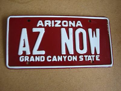 "Arizona Vanity License Plate "" Az Now "" Love The Grand Canyon State Supporter"