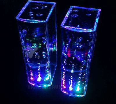 Dancing Water Speakers LED Light Music Fountain USB Jet Show iPhone iPad iPod PC