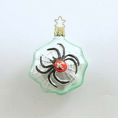 Halloween Glass Ornament Spider Web Inge Glas Germany