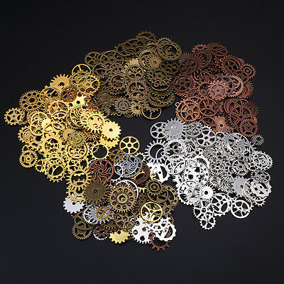 60pcs DIY Steampunk Gears Mixed Packing Zinc Alloy Charms Vintage Mixed