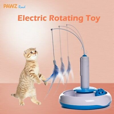 Electric Pet Cat Automatic Toys Rotating Puppy Kitten Play Fun Interactive Toys