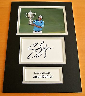 Jason Dufner Hand Signed Autograph A4 Photo Display Golf Champion Gift & Coa