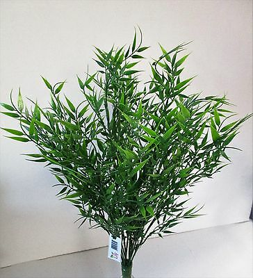 Large Green Artificial Bamboo Leaf Bush 53cm Home Garden and Office Fake Foilage