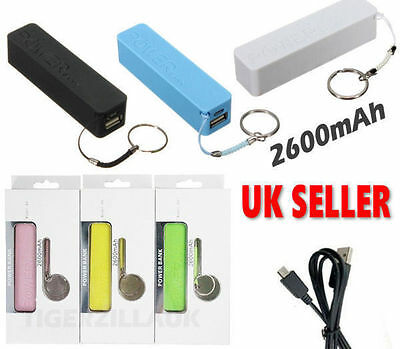 Portable USB 2600mAh Mobile Power Bank Charger Battery for iPhone 6 5 4 Lumia EE