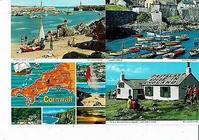 Cornish Post Cards Color Photos 12 Cards Views Around Cornwall