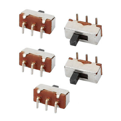 5Pcs DC50V 0.5A 2 Position 3P SPDT Micro Slide Switch Latching Toy Switch