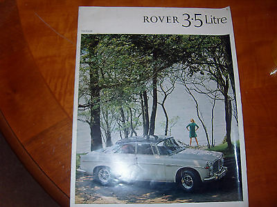 1967 Rover 3.5 litre saloon and coupe P5b SALES BROCHURE