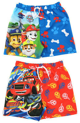 Boys Character Swim Shorts Paw Patrol Thomas Nemo Blaze Ages 12-18 TO 4-5Y