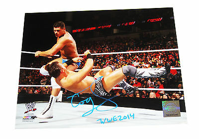 Wwe Cody Rhodes 8X10 Signed Photo File Photo With Proof 4