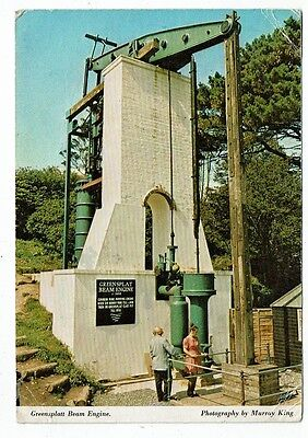Cornish Post Card Greensplatt Beam Engine Wendron Forge