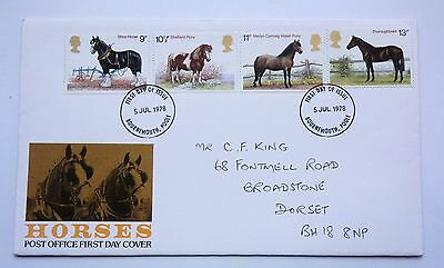 Great Britain First Day Cover Horses 1978