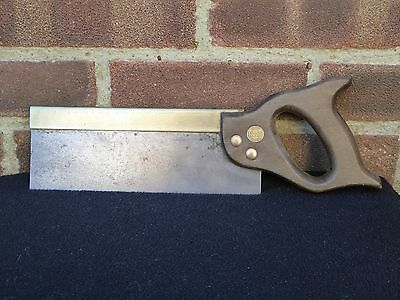 "Vintage Tyzack Turner Brass Backed 10"" Tenon Saw 13 TPi Carpenters Tool"