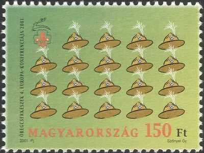 Hungary 2001 Scouts/Scouting/Guides/Guiding/Conference/Scout Hats 1v (n45555)
