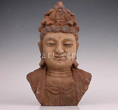 Wood Statue Carved Buddha Spiritual Gift Vintage Collectable Old Decoration